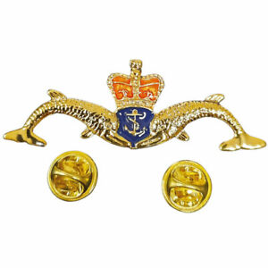 Royal Navy Submariner Double Dolphin Large Lapel Pin Badge FREE UK Delivery!
