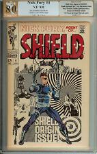 Signed Nick Fury Agent of SHIELD #4 Jim Steranko PGX 8.0  (like CGC)