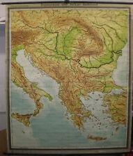 Schulwandkarte Wandkarte Serbien Bosnien Kroatien Rumänien Istanbul 182x221 1955