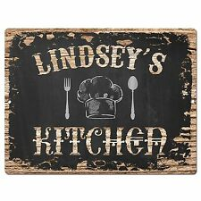 PP2132 LINDSEY'S KITCHEN Plate Chic Sign Home Kitchen Decor Birthday Gift