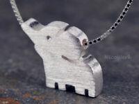 Silberkette mit Anhänger Elefant Tier Halskette Damen 925 Silber Kette Schmuck