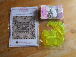 Quiltanleitung Mrs Billings Coverlet m. Zubehör 16 Schablonen 1.000 Hexagons Neu