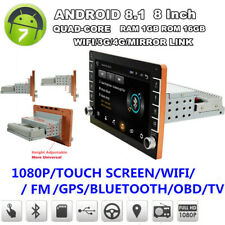 Single Din Car Stereo Radio With Button Knob GPS Wifi 3G 4G DAB Mirror Link OBD