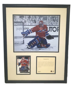 1994 Patrick Roy Montreal Canadiens Framed Kelly Russell Lithograph Print #3627