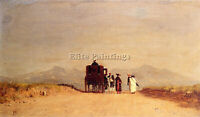 MCENTEE JERVIS JOURNEY PAUSE ROMAN CAMPAGNA ARTIST PAINTING OIL CANVAS REPRO
