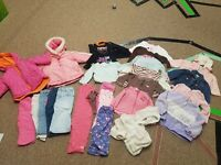 Lot of 25 Baby Girls' Clothes,12months carters coats jackets outfits and more