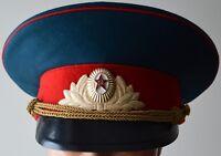 Parade Uniform Visor Hat of Soviet USSR Russian Army Military Internal Troops