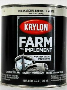 Krylon Farm & Implement 2034 International Harvester White Gloss Enamel 32 Oz