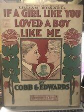 1905 Sheet Music Julius Marx (Groucho) 'A Boy Like Me'