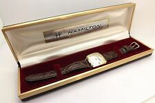 Rare 1963 Hamilton Electronic Men's Service Wrist Watch With Date ~NOS~