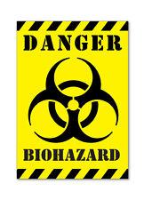DANGER BIOHAZARD - SELF ADHESIVE VINYL STICKERS SAFETY