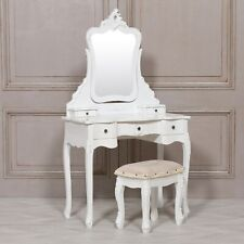 Dressing Table and Stool in Shabby Chic French Chateau Style Fwf01w