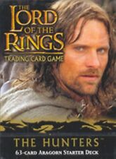 Lotr Tcg Hunters Aragorn and Mauhur Starter Decks Brand New from sealed display