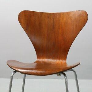 Teak Stuhl 3107 Arne Jacobsen, Fritz Hansen Serie 7 Chair, 1971, Siebener Chair