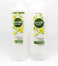 120ml. Set of Sunsilk Natural Shampoo & Conditioner Green Tea and Lemon Detox