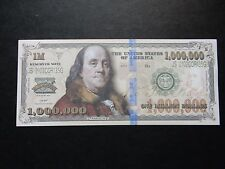 ZZ $1 Million Dollars Banknote Bill President FRANKLIN Novelty 1000000 One USA