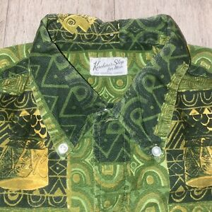 Vtg 50s 60s Kurohara's Shop For Men Hawaiian Shirt Hilo Hawaii Midcentury Medium