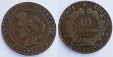 10 Centimes Cérès 1873 A Paris, TB !!