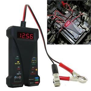 Professional Car Digital Battery Tester Voltmeter Charging System Analyzer Tool