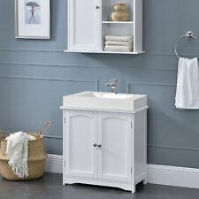 en.casa Badezimmerschrank Unterschrank Waschtisch Badmöbel weiß 60x60x30cm