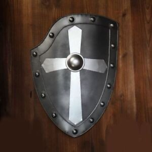 Medieval Knight Shield Handcrafted Battle Armory Shield Protection Cover Shield