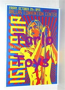 IGGY POP - Dallas, Us - 28 october 1977   - concert poster