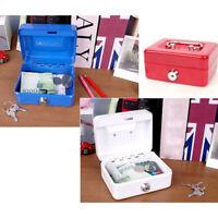 New Portable Lockable Cash Money Coin Security Safe Box Mini Locker HO