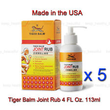 5 x Tiger Balm Joint Rub reduces joint discomfort Free Registered Post