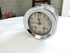 Antique 1927 Nickel Plated Chelsea Ships Clock,Louis Weule San Francisco,Runs