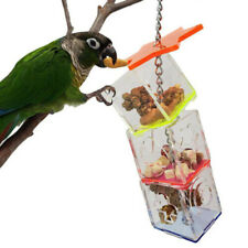 Parrot Bird Boredom Buster Forage Box Creative Hanging Treat Foraging Toy Us