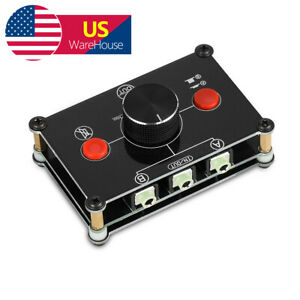 2 PORT 3.5mm STEREO Manual Switch Box AUX Audio Input Headphone Speaker Selector