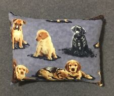 """Beautiful Handmade Fleece Puppy Dog Accent - Throw Pillow 11"""" x 9"""""""