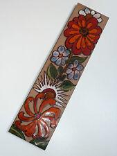 70er HEIBI KERAMIKBILD WANDPLATTE 50 cm handgemalt 70s ceramic wall plate flower