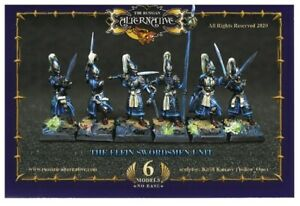 Elfin Group with Swords RESIN