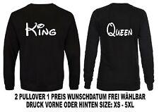 Sweatshirt partenaires Look Hoodie King Queen Motif Différentes Couleurs Xs - 5xl
