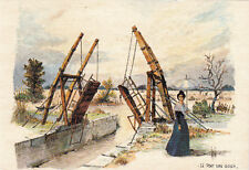 PROVENCE le pont Van Gogh aquarelle de Robert Lépine