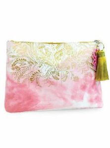 Papaya! Art E1 Cosmetic Bag 14x9in Large Tassel Pouch Blush Watercolor APL0064