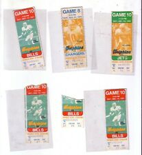 6 Miami dolphins  Ticket stubs 4 1981 and 2- 1980 Orange bowl tickets