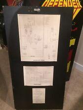 DEFENDER Arcade Cabinet Back Door Interboard Power Wiring SCHEMATIC 16-3001-200