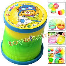 1Pcs Colorful Rainbow Plastic Magic Slinky Children Classic Development Toy