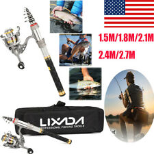 Lixada 1.8/2.1/2.4/2.7M Telescopic Fishing Rod Spinning Reel Combo Full Kit Pole