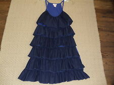 Black / Blue Ruffled Sundress   L