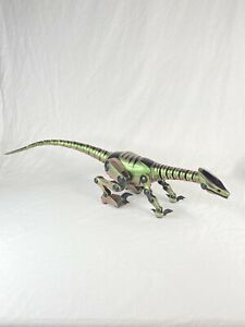 "Wow Wee Roboraptor Coper Green Interactive Dinosaur 28"" Robot No Remote Control"