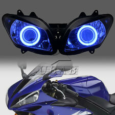 Blue Hlao Eyes Assembled Projector HID Headlight For Yamaha YZF-R1 2002-2003