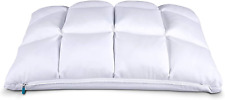 Leesa Luxury Hybrid Reversible Cooling Foam/Quilted Pillow for Sleeping, Queen,
