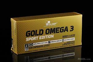 OLIMP Gold Omega-3 120 Mega Caps Sport Edition Huile de poisson Acides gras