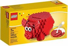 Lego Piggy Bank 40155 Red Coinbank 148 pieces New BUILDING KIT (SHIPS WORLDWIDE)
