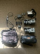 (2x) Sony Dcr-Vx1000 Camcorder (Japanese) Bundle Pack W/Accessories