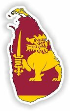 Sticker Silhouette Sri Lanka Map Flag for Bumper Skateboard Locker Tablet