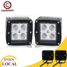 "2 X 3"" 16W Square Flood LED Work Light Fog Driving DRL Bulb Truck SUV Jeep ATV"